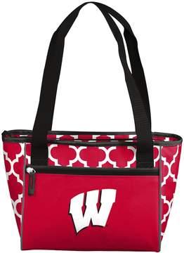 NCAA Logo Brand Wisconsin Badgers Quatrefoil 16-Can Cooler Tote