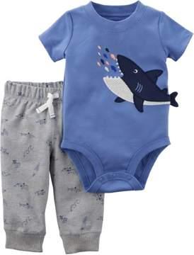 Carter's Baby Boys Shark Bodysuit Set