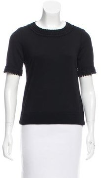 Andrew Gn Wool Short Sleeve Top w/ Tags