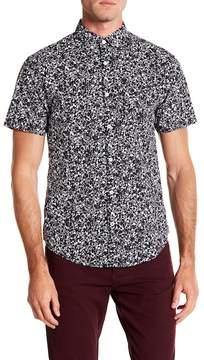 Original Penguin Short Sleeve Floral Print Classic Fit Shirt