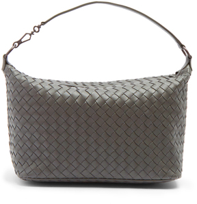 BOTTEGA VENETA Intrecciato-woven leather shoulder bag
