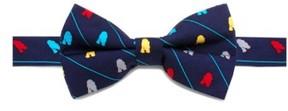 Cufflinks Inc. Boy's Cufflinks, Inc. 'Star Wars(TM)- R2-D2 Stripe' Silk Bow Tie