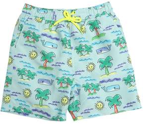 Stella McCartney Sun & Palms Print Nylon Shorts