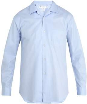 Comme des Garcons Geometric-jacquard patch-pocket cotton shirt