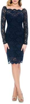 Decode 1.8 Fitted Scalloped Lace-Overlay Dress