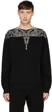 Marcelo Burlon County of Milan Black and White Anne Sweatshirt