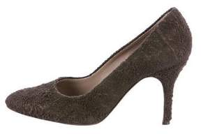 Helmut Lang Distressed Suede Pumps