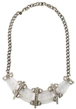Alexis Bittar Crystal & Lucite Collar Necklace