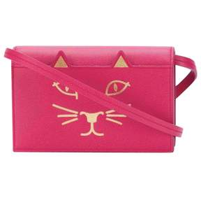 Charlotte Olympia Pink Leather Handbag