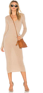 Enza Costa Rib Long Sleeve Dress