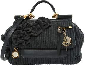 Dolce & Gabbana Sicily wool handbag - ANTHRACITE - STYLE