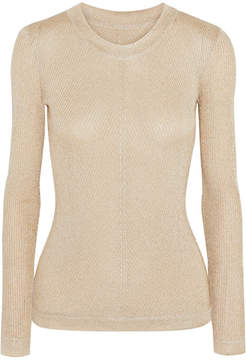 Emilia Wickstead Metallic Ribbed-knit Top - Gold