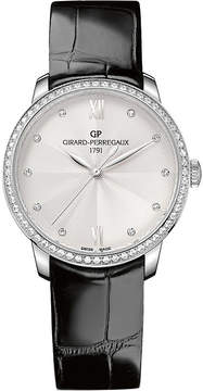 Girard Perregaux GIRARD-PERREGAUX 49523D11A171-CB6A 1966 stainless steel diamond and leather watch