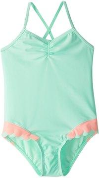 Hula Star Girls' Mermaid Scallops One Piece Swimsuit (2T6X) - 8154251