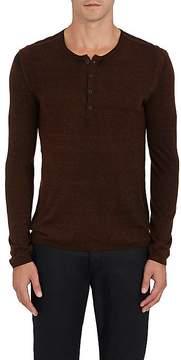 John Varvatos Men's Silk-Cashmere Henley Shirt