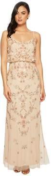 Adrianna Papell Antique Bead Blouson Bodice Gown Women's Dress