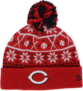 New Era Cincinnati Reds Sweater Chill Pom Knit Hat