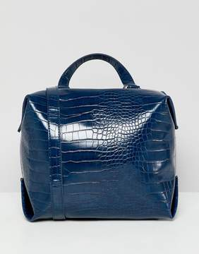 French Connection Square Mock Croc Bag
