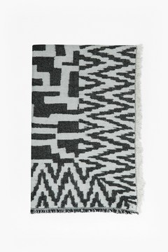 French Connection Geometric Patterned Scarf