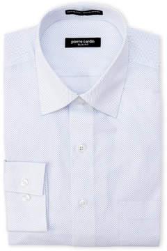 Pierre Cardin Slim Fit Cobalt Dotted Dress Shirt