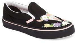 Vans Girl's Classic Flower Slip-On Sneaker