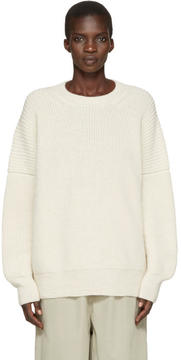 LAUREN MANOOGIAN Off-White Alpaca Fisherman Sweater