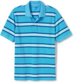 Lands' End Lands'end Men's Tall Mesh Short Sleeve Stripe Polo Shirt
