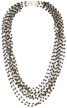 Candela Women's 18K Yellow Gold Over Silver Spinel 9-Strand Necklace
