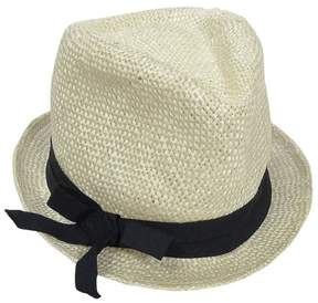 Nine West Women's Bow Detail Straw Hat (OS, Natural)
