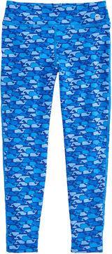 Vineyard Vines Girls Whale Outline Print Performance Leggings