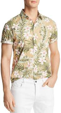 Bloomingdale's The Men's Store at Tropical Print Short Sleeve Button-Down Shirt - 100% Exclusive