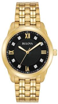 Bulova Men's Diamond Stainless Steel Watch - 97D113