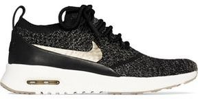 Nike Thea Ultra Leather-Trimmed Flyknit Sneakers