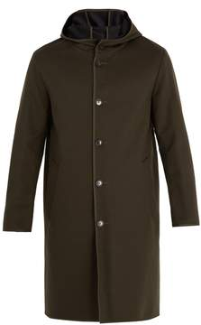 MACKINTOSH Hooded single-breasted wool coat