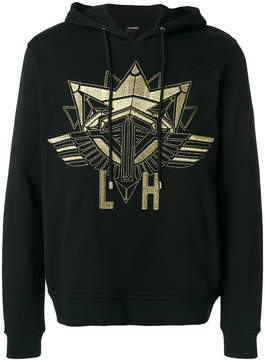 Les Hommes embroidered hoodie
