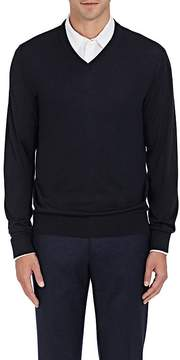 Luciano Barbera Men's Fine-Gauge Knit Wool-Blend Sweater