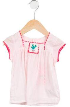 Billieblush Girls' Embroidered Short Sleeve Top w/ Tags