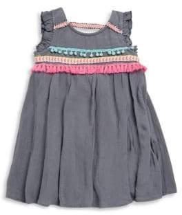 Hannah Banana Little Girl's Embellished Fringe & Flutter-Sleeve Dress