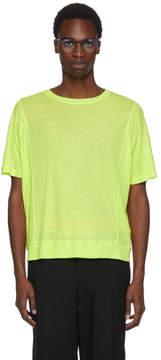 Robert Geller Green Seamed Lightweight T-Shirt