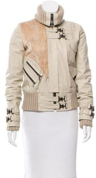 Rodarte Leather-Fringe-Accented Jacket