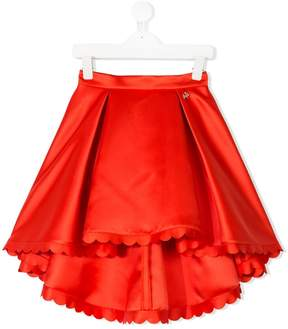 Elisabetta Franchi La Mia Bambina high low skirt