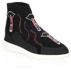 Valentino Lipstick High-Top Sneakers