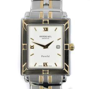 Raymond Weil Parsifal 9330 Two-Tone Stainless Steel White Dial Quartz Mens Watch