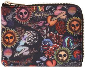 Paul Smith Black Psychedelic Sun Corner Zip Wallet