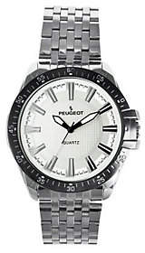 Peugeot Men's Silvertone Carbon Fiber Dial Sport Watch