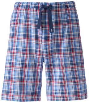 Izod Big & Tall Plaid Sleep Shorts