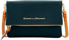 Dooney & Bourke City Foldover Zip Crossbody - BLACK - STYLE