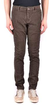 Incotex Men's Brown Cotton Pants.