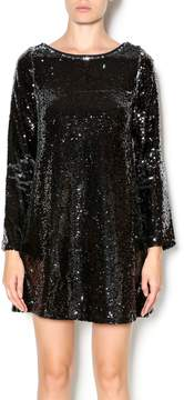 Double Zero Long Sleeve Sequin Dress