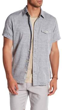 Grayers Heather Twill Herringbone Short Sleeve Regular Fit Shirt